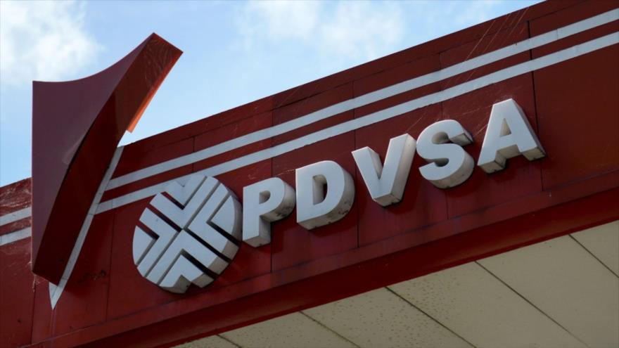 El logo de la compañía estatal Petróleos de Venezuela (PDVSA) en Venezuela.
