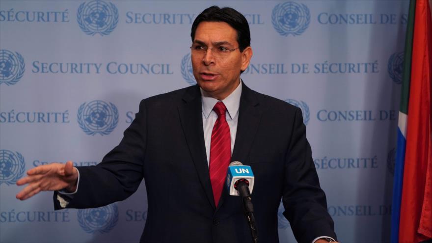 Danny Danon, embajador israelí ante la ONU, ofrece una rueda de prensa, Nueva York, 20 de noviembre de 2019. (Foto: AFP)