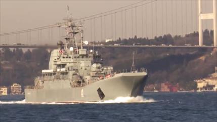 Vídeo: Rusia envía nuevo buque a Siria ante ofensiva de Turquía