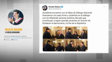 Maduro y la oposición se reúnen en la Mesa de Diálogo Nacional