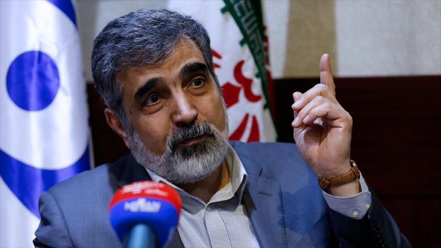 El portavoz de la Organización de Energía Atómica de Irán (OEAI), Behruz Kamalvandi. (Foto: MIZAN)