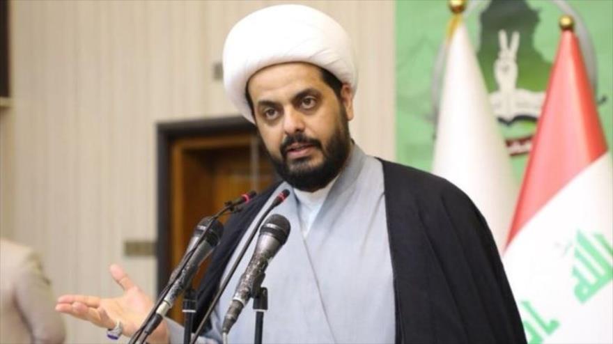 Qais al-Jazali, líder de Asaib Ahl al-Haq, grupo que forma parte de las Unidades de Movilización Popular de Irak.