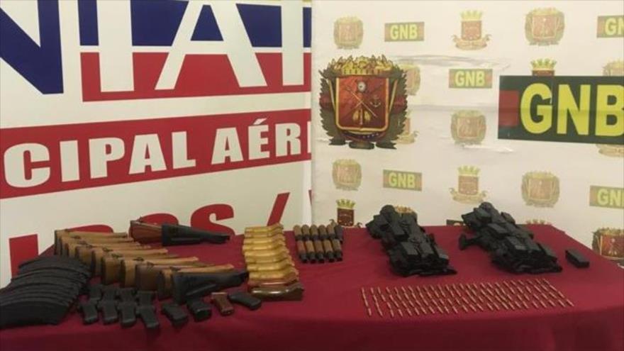 Armamento incautado por las autoridades venezolanas, 5 de marzo de 2020.