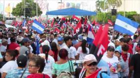 Sandinistas marchan en Nicaragua en respaldo a Ortega