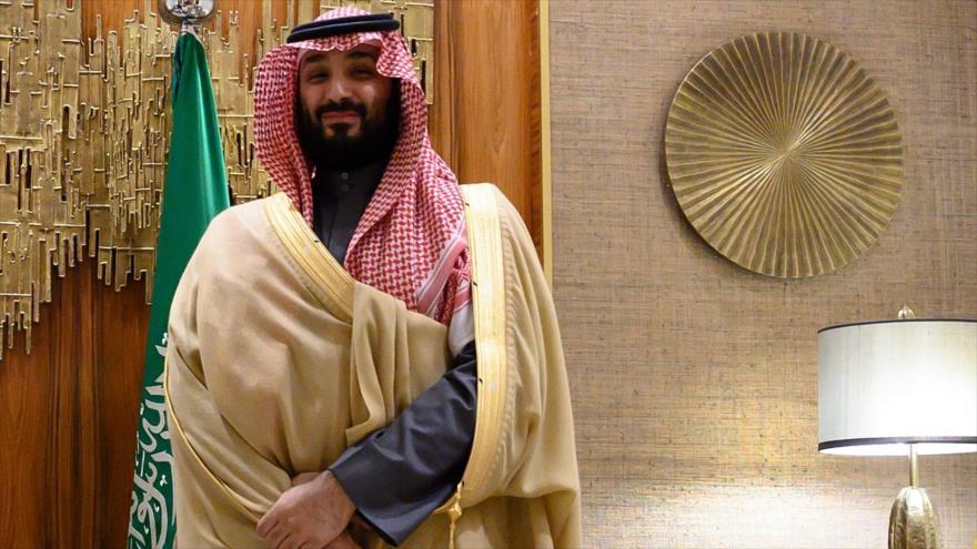 El príncipe heredero saudí, Muhamad bin Salman, en un acto oficial en Riad, la capital, 20 de febrero de 2020. (Foto: AFP)