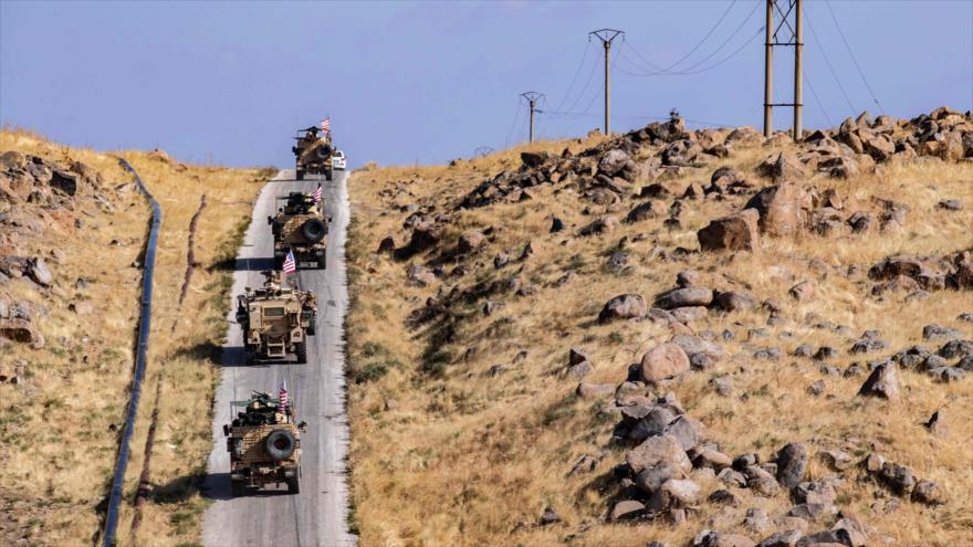 Un convoy militar de EE.UU. en la provincia siria de Al-Hasaka, 31 de octubre de 2019. (Foto: AFP)