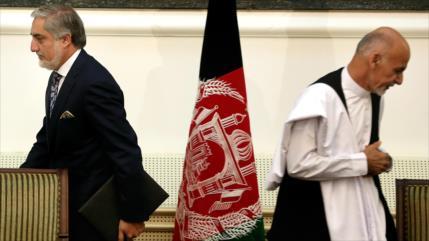 Dos personas planenan juramentar como presidente de Afganistán