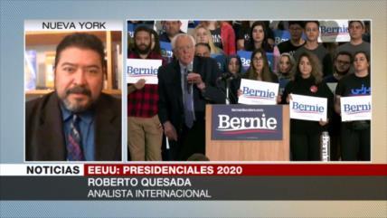 """Quesada: La """"maquinaria demócrata le ha caído"""" a Bernie Sanders"""
