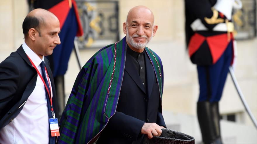 Expresidente afgano Hamid Karzai, en el Palacio Elíseo, Francia, septiembre de 2019. (Foto: AFP)