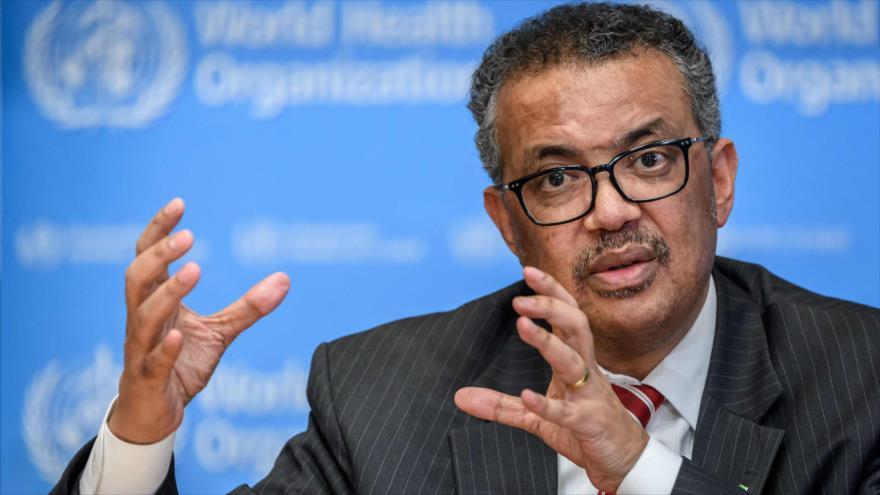 El director de la Organización Mundial de Salud (OMS), Tedros Adhanom Ghebreyesus, en Ginebra, 11 de marzo de 2020. (Foto: AFP)