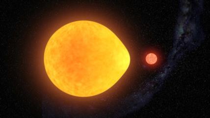 Descubren por primera vez una inusual estrella en forma de lágrima