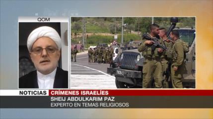 Paz: Crímenes contra palestinos son una constante para Israel