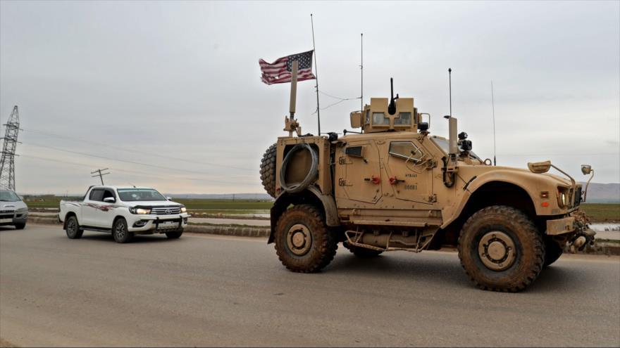 Vehículo blindado estadounidense desplegado en el norte de Siria, 12 de febrero de 2020. (Foto: AFP)