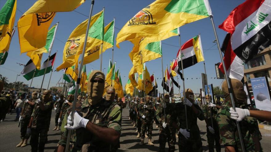 Fuerzas del Movimiento de Resistencia Islámica de Irak (Kataib Hezbolá).