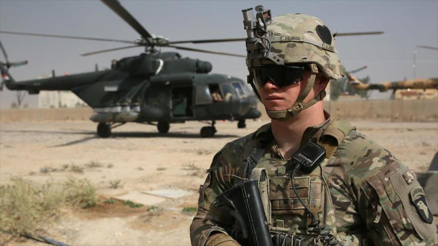 Un soldado estadounidense desplegado en Irak durante una misión, 19 de octubre de 2016.