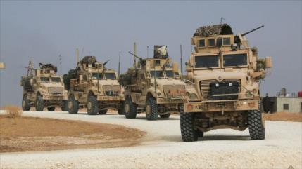 EEUU envía 62 vehículos militares a zonas petroleras de Siria