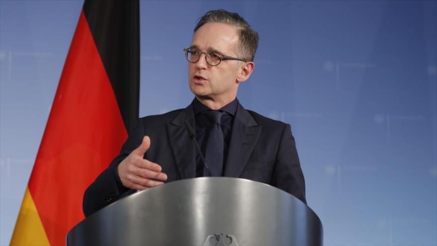 El ministro de Exteriores de Alemania, Heiko Maas, en una conferencia de prensa en Berlín, 4 de marzo de 2020. (Foto: AFP)