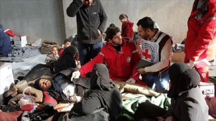 Siria condena ataque terrorista contra una organización humanitaria