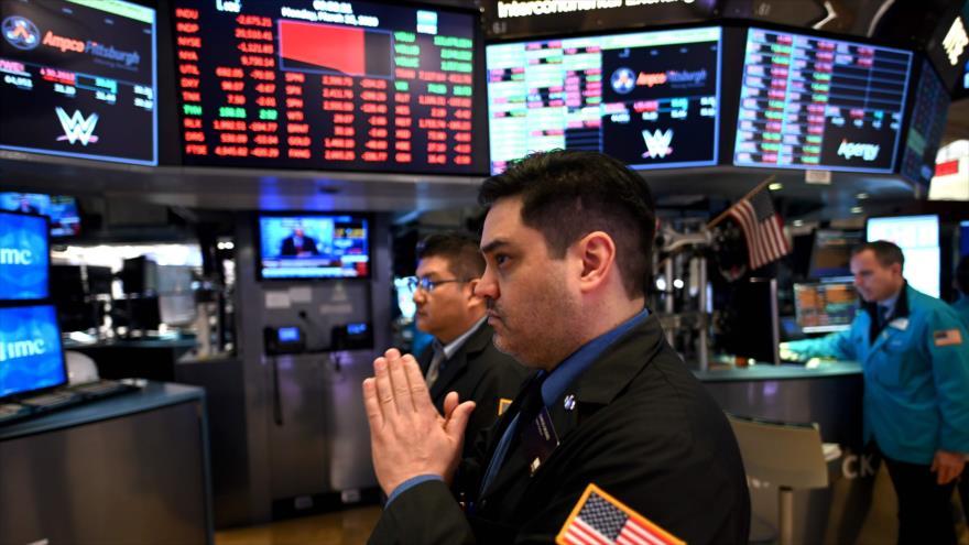 La sala principal de la Bolsa de Valores de Nueva York, Wall Street, en EE.UU., 16 de marzo de 2020. (Foto: AFP).