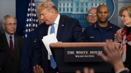 Trump admite que el coronavirus ya está fuera de control