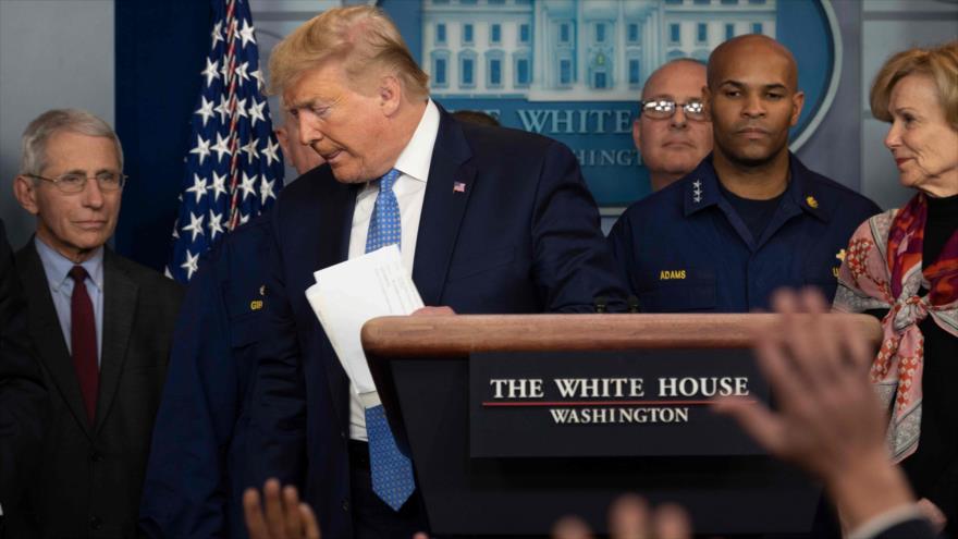 Trump admite que el coronavirus ya está fuera de control | HISPANTV