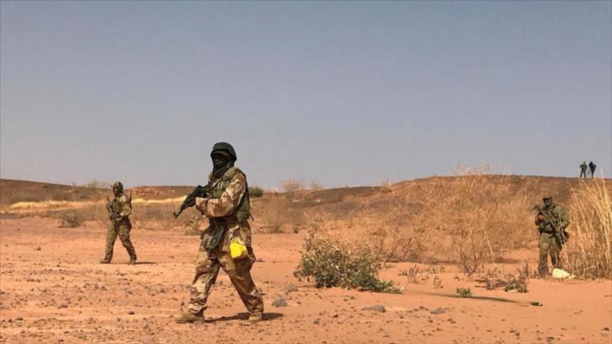 Comandos nigerinos durante los ejercicios denominados Flintlock, en el pueblo de Ouallam, Níger, 18 de abril de 2018. (Foto: Reuters)