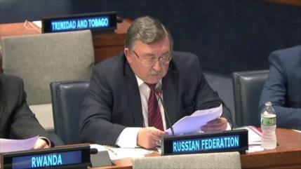 Rusia tacha de 'inmorales' nuevas sanciones de EEUU contra Irán