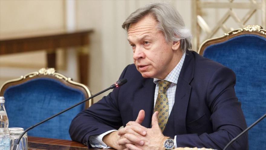 Alexéi Pushkov, presidente del Comité de Política de Información del Consejo de la Federación Rusa.