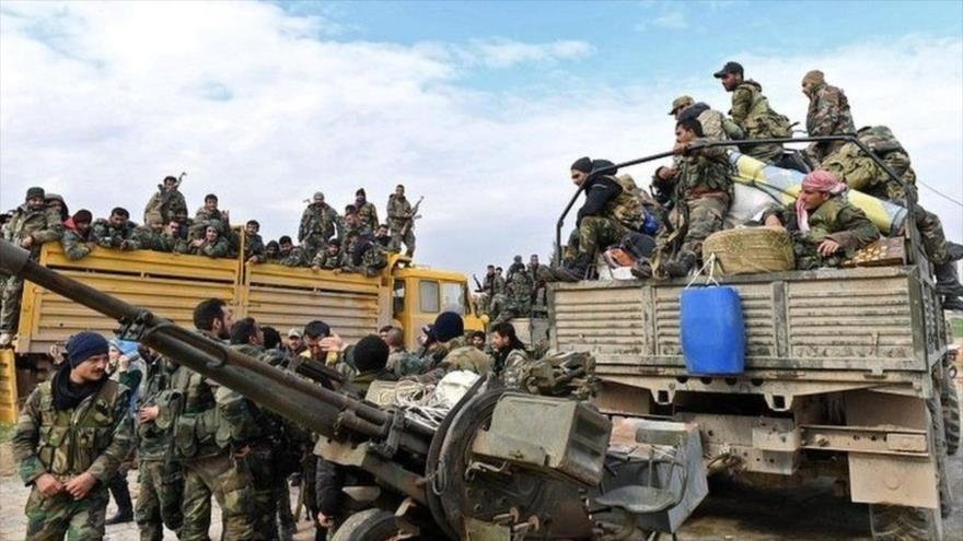 El Ejército sirio mueve sus tropas para liberar la ciudad de Saraqib, ubicada en la provincia de Idlib.
