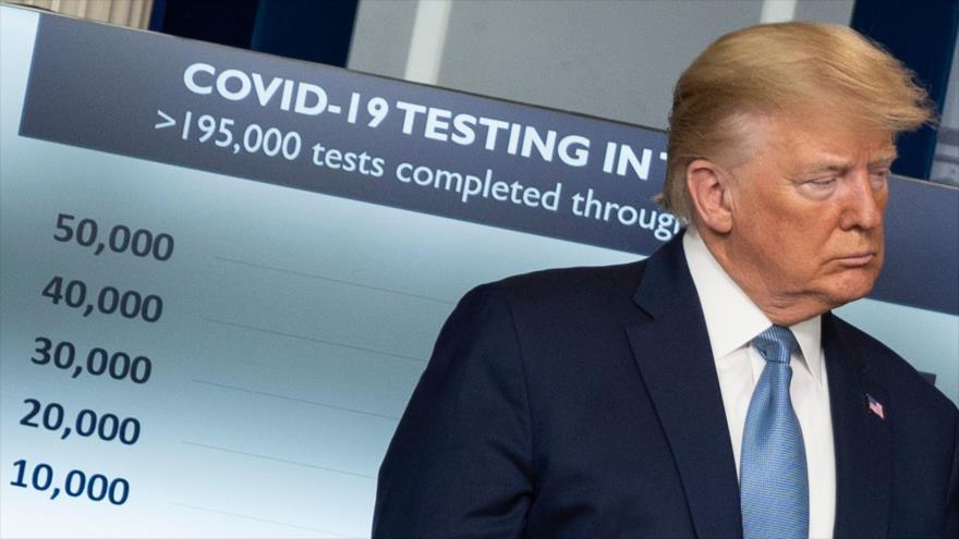 El presidente de EE.UU., Donald Trump, en una reunión sobre el nuevo coronavirus celebrada en la Casa Blanca, 21 de marzo de 2020. (Foto: AFP)