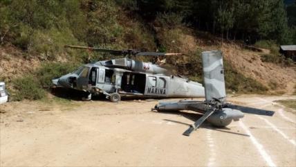 Cae helicóptero militar en México, hay un muerto y 20 heridos