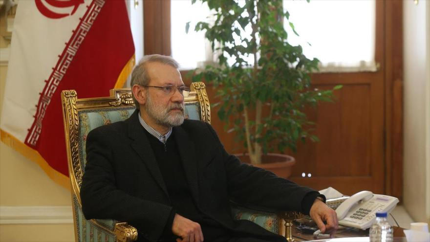 El presidente de la Asamblea Consultiva Islámica de Irán (Mayles), Ali Lariyani.
