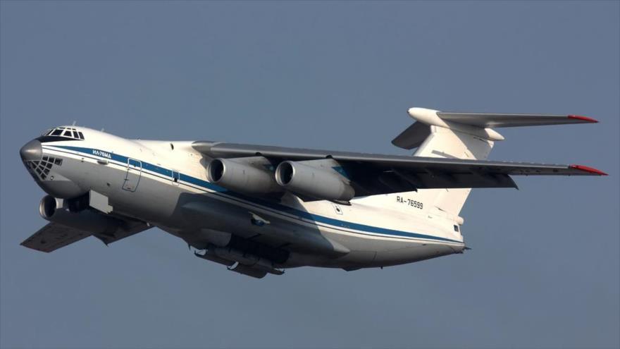 Un avión IL-76 de la aviación de transporte militar de la Fuerza Aeroespacial de Rusia.