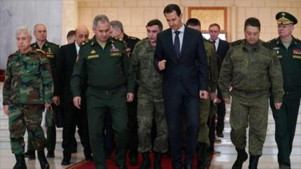 Al-Asad trata con Shoigu acuerdo ruso-turco sobre Idlib