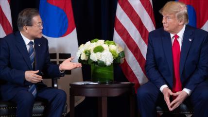 Trump pide a Corea del Sur que le ayude en lucha contra COVID-19