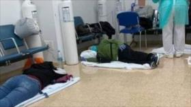 Precaria situación de hospital israelí con pacientes en el suelo