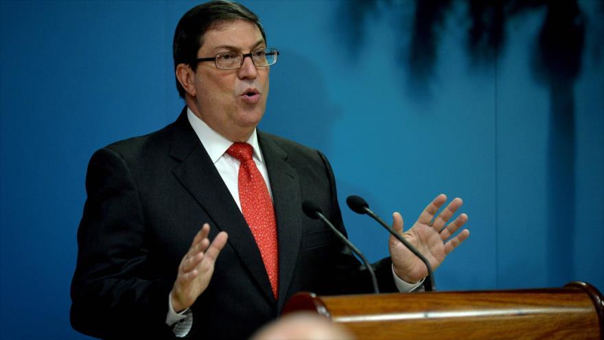 El canciller de Cuba, Bruno Rodríguez Parrilla, habla en una conferencia de prensa en la Cancillería, La Habana, 20 de septiembre de 2019. (Foto: AFP)