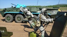 Vídeo: Unidades de protección biológica rusa efectúan maniobras
