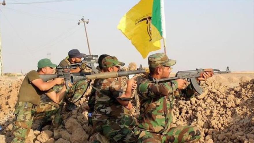 Fuerzas del Movimiento de Resistencia Islámica de Irak, conocido como Kataib Hezbolá.