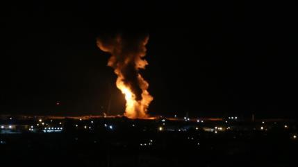 Aviones de guerra israelíes bombardean la Franja de Gaza
