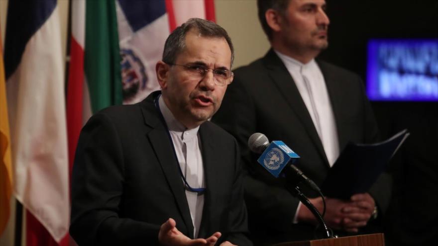 Representante permanente de Irán ante la Organización de las Naciones Unidas (ONU), Mayid Tajt Ravanchi.