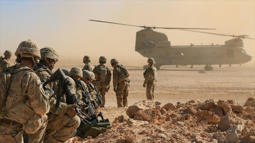 Los soldados estadounidenses durante un ejercicio de entrenamiento de fuego real en Irak, 31 de octubre de 2018. (Foto: U.S. Army National Guard)