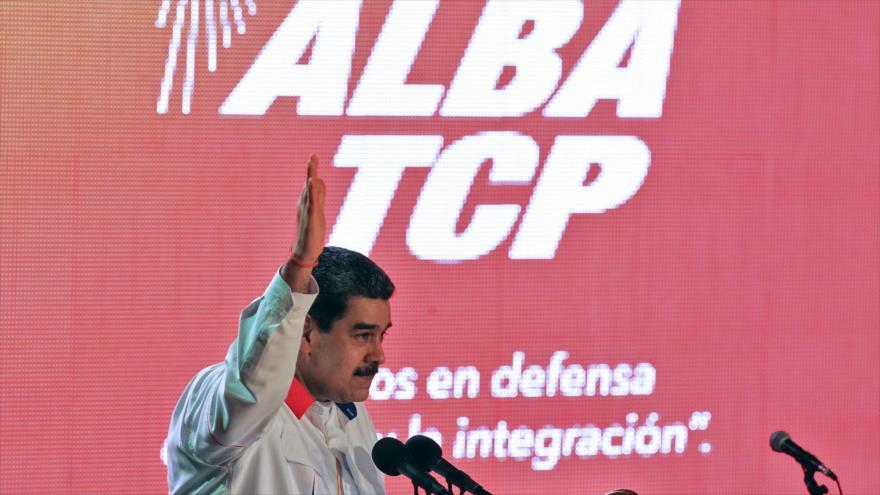 El presidente de Venezuela, Nicolás Maduro, durante la inauguración de la XVII Cumbre ALBA-TCP, en La Habana, Cuba, 14 de diciembre de 2019. (Foto: AFP)