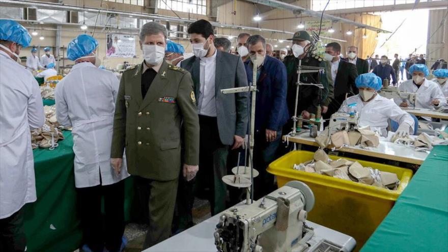 Sigue la producción de mascarillas y desinfectantes en Irán