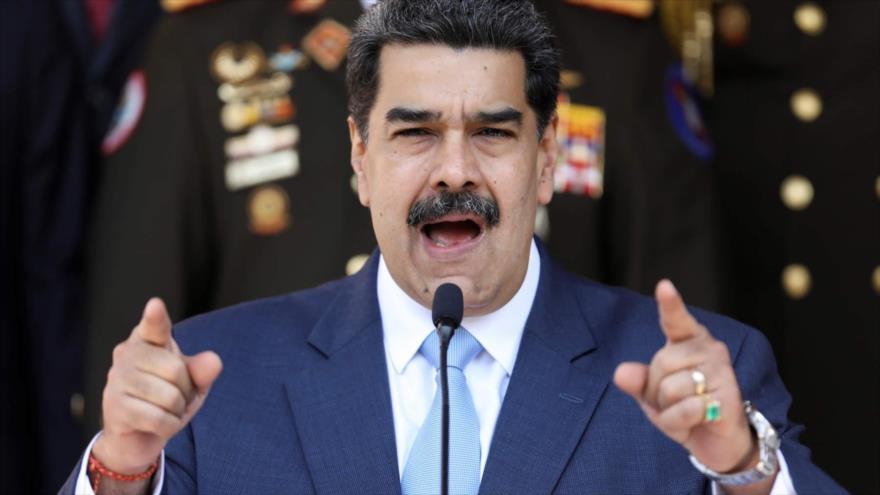 El presidente venezolano, Nicolás Maduro, durante una conferencia de prensa en Caracas, la capital, 26 de marzo de 2020. (Foto: Reuters)