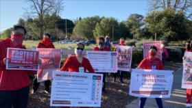 Enfermeros de EEUU protestan por falta de equipos de protección