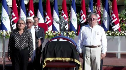 Rinden homenaje al militante histórico del FSLN, Jacinto Suárez