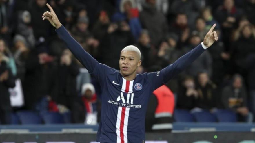El francés KylianMbappé, delantero del Paris Saint-Germain, durante un partido ante el Amiens, diciembre de 2019. (Foto: AP)