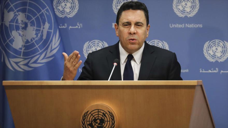 El embajador venezolano ante la ONU, Samuel Moncada.