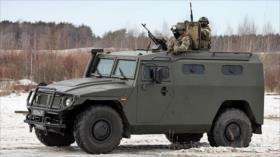 Rusia modifica un vehículo blindado para usarse contra el COVID-19